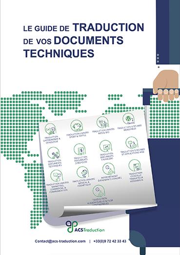couverture guide traduction de vos documents techniques